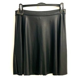 Leather-Look Skater Skirt